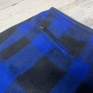 The Limited Skirts - Vintage Limited skirt buffalo check blue and black